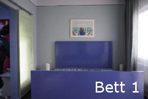 Blaue Bett - Gästezimmer 1